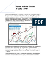 Kondratieff Waves and the Greater Depression of 2013