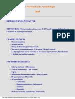 Hiperglicemia Neonatal