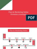 Plantilla infográfica para crear estrategia redes sociales (Formato cronología)