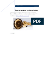 Saxophone Acoustics and Multiphonics