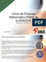Curso de Financial Mathematics SOA 2012