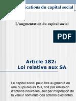 Cours Sur La Comptabilité Des Sociétés Modifications Du Capital Social - EnCG Settat