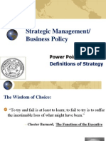 Power Point Set 001_ Definitions of Strategy_Spring 2012