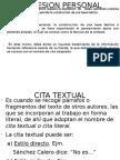 Espresion Personal y Cita Textual[1]