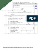 2006 - 2010 Mathematics HSC - Trig Functions Questions