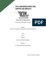 Sistemas y Tecnologías de La Información en Instituciones Educativas JULIO-20-2014