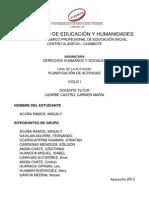 DSH Ayacucho Administracion Magaly Acuña Fase de Planificacion