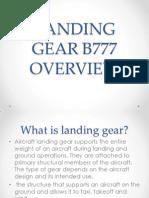Landing Gear b777 Overview