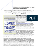Edgar Perez, Author of Knightmare on Wall Street, to Lead The Speed Traders Workshop 2014 Singapore