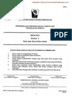 Biologi Kertas 1 Ting 4 Pertengahan Tahun 2012 Terengganu (2)