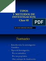 Clase 02 La Investigacion -Tipo y Metodos de Investigacion