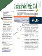 Revision Literaria Del Mio Cid
