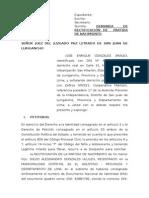 Demanda Rectificacion Mayo 2014