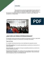 Estructura de Trabajo Para Participar en Una Feria Internacional