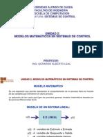 Unidad 2 Modelos Matematicos en Sistemas de Contol