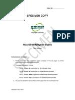Microsoft Word - WLA103-Specimen Examination Paper