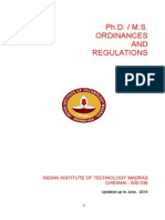 MSPhD Ordinances & Regulations 26-06-14