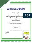 - Chn Certificate