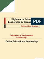 Diploma in Educational Leadership & Management Online