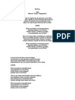 Canciones Peruanas en Ingles
