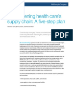 Strengthening Health Cares Supply Chain