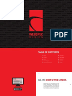 Webspec Design Marketing Booklet
