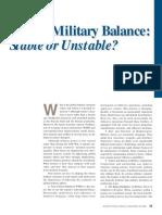 military balance.