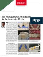 Clayton a. Chan DDS DentistryToday BiteManageforRestorativeDentist Jan2008