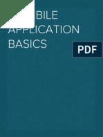 Mobile Application Basics