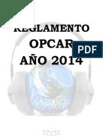 REGLAMENTO OPCAR 2014