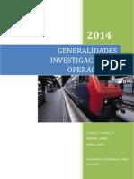 Generalidades de Investigacion de Operaciones