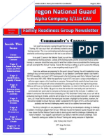 Alpha Company 3/116 FRG Newsletter AUG. 2014.