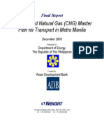 CNG Master Plan for Transport In Metro Manila