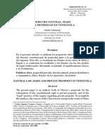 Derecho de Propiedad, Marx y La Propiedad en Venezuela by Carlos Casanova