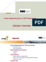 11 Pronto Cisco Joint Solution CTDP 2003