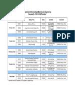 PG Timetable & Breakdown_Jan14