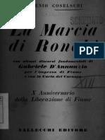 Eugenio Coselschi, La marcia di Ronchi