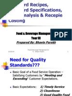 masterpresentationstandardrecepiesstandardspecificationsyieldanalysis-12788334081911-phpapp01