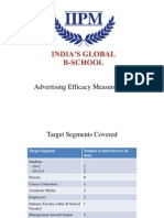 Advertising Efficacy Measurement