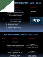 Qa Presentation July