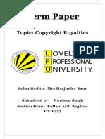 Cap 223 IPR Term Paper
