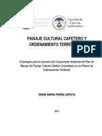 POT Paisaje Cultural Cafetero