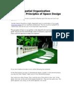 Spatial Organization- Principles of Space Design