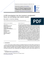 A CFD Investigation Into the Transient Aerodynamic Forces on Overtaking Road Vehicle Models