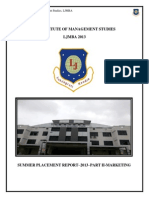 l j Institute of Management Studies Summer Internship Report 2013 Part 2 Marketing 1