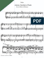 Variations, Interlude Et Fugue