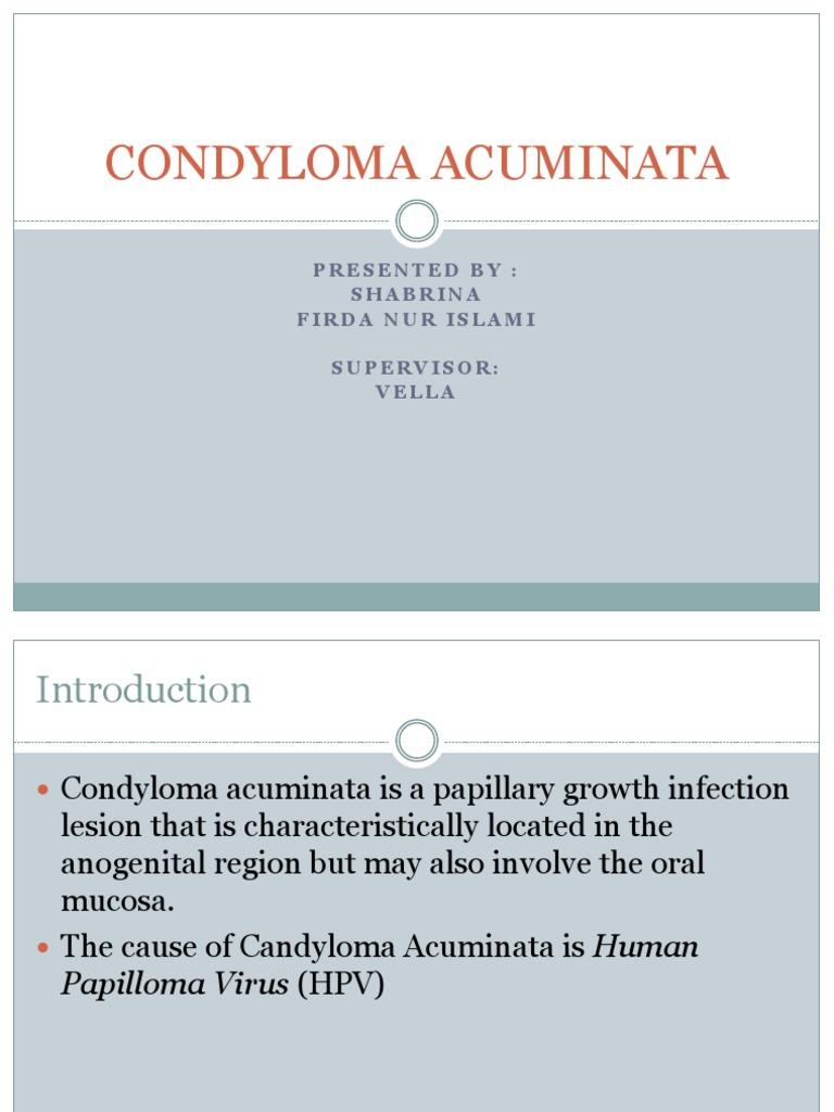 patogeneza condilomului