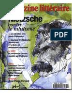Magazine Littéraire 2000 01 383 Nietzsche Contre Le Nihilisme
