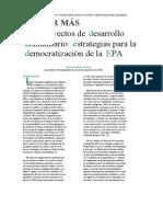 16 Proyectos Desarrollo Comunitario Democratiacion