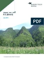 Nepal Tax Fact 14-15